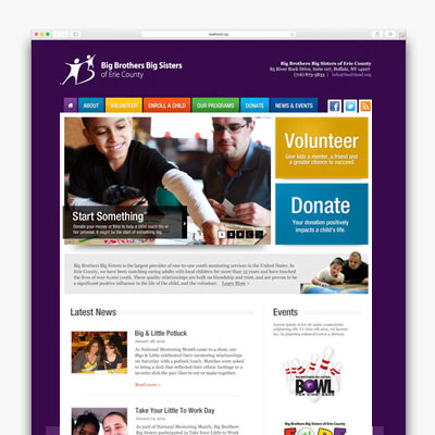 Big Brothers Big Sisters website design